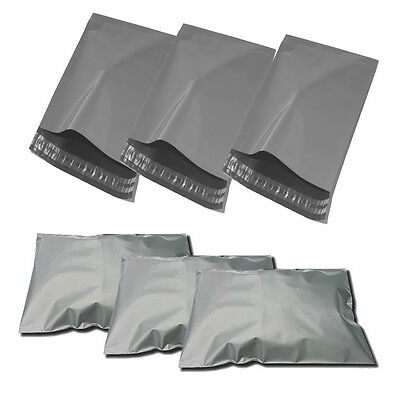 """100 GREY MAILER BAGS - 22"""" x 30"""" STRONG POLY POSTAGE POSTAL QUALITY SELF SEAL"""