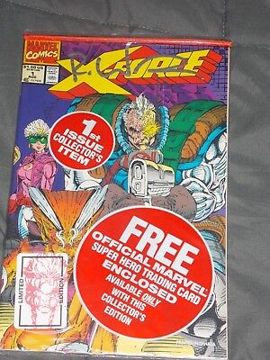 X - Force #1 Signed Rob Liefeld In Plastic
