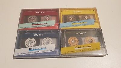 Cassett ES JAPAN SONY What's Up Rare HF-S46 4  Color set Exclusive Pack