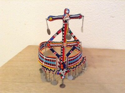 African-Arena Maasai Masai OOAK Handcrafted Beaded Ethnic Tribal Head Crown AA70