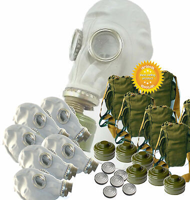 5 sets Gas mask GP-5 Size-4 ExLarge Soviet Russian Military Gray rubber Full set