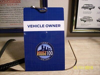 Rare 100Th Anniversary Rouge Ford Plant Lanyard Must See!