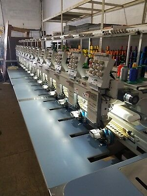 business, commercial, embroidery machine, Barudan 15 head, 9 needles