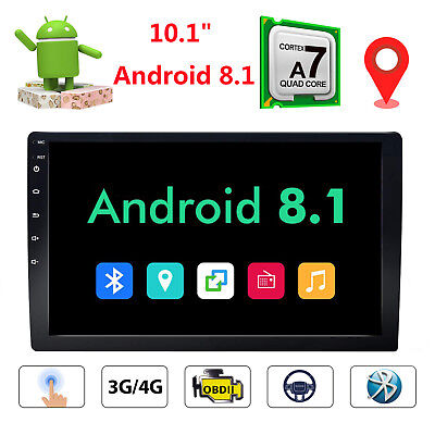 """Android 8.1 10.1"""" HD Double 2Din Car Stereo Radio GPS NO DVD Navi Bluetooth CAM"""
