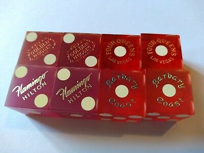 4 Pair Vtg. Casino Dice From      ******las Vegas,nv*******