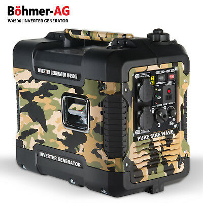 Bohmer Camo Inverter Generator W4500i 2.0 KW Compact Portable power - Quiet 240V