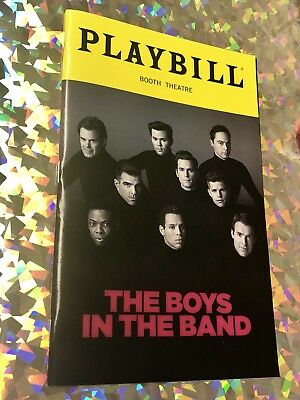"""PLAYBILL """"Boys In The Band"""" Broadway Show - Brand New"""