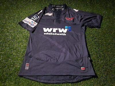 scarlets wales welsh cymru rugby union large mans player issue tightfit jersey