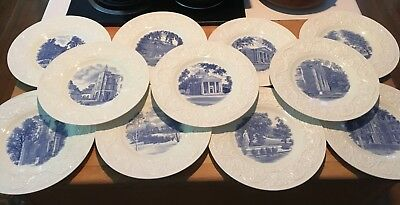 "1-Wedgwood Plate Smith College 1932 Blue 10.5"" Hatfield MA 6 choices! NICE!"
