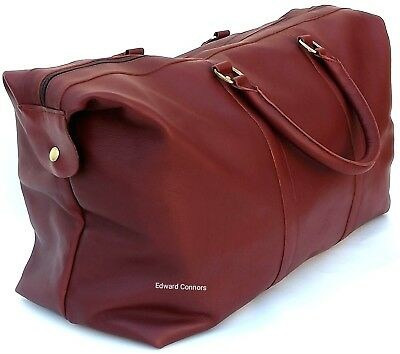 Extra Large Leather Weekend Bag Travel Holdall Duffle Sports Cabin Gym luggage