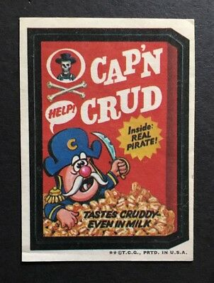 1973 Topps Wacky Packages Cap'n Crud Cereal 2nd series Rare Tan back version Ex