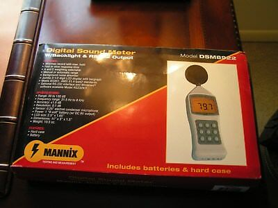 Digital Sound Meters - Mannix DSM8922 w/Backlight & RS232 + Radioshack 30-2050