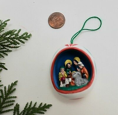 NATIVITY ceramic pottery Christmas Ornament Diorama Nativity hand-crafted Peru