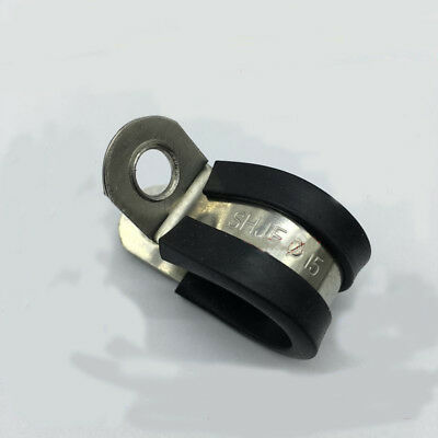 P Clips Rubber Lined Hose Cable Pipe Clamp 5Pcs 6mm to 110mm 304 Stainless Steel