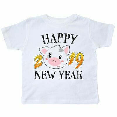 f185804f5 Inktastic Happy New Year 2019 Cute Pig Toddler T-Shirt Years Chinese Zodiac  Fun