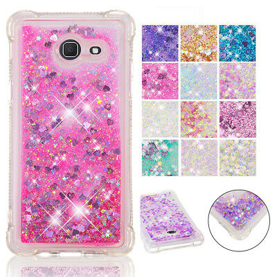 Shockproof Bling Liquid Glitter Case Cover For Samsung Galaxy J4 J6 PLus A7 2018