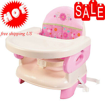 High Chair For Toddlers Infant Portable Space Saver Baby First Booster Pink new