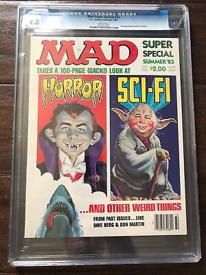 "MAD Magazine Super Special #43 (CGC 9.8 NM/MT) - STAR WARS ""YODA"" Cover"