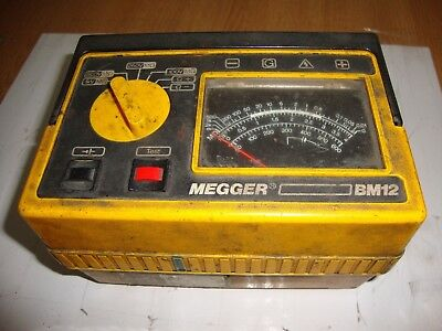 Megger BM12 Multi-Voltage Insulation & Continuity Tester TESTED WORKING WO5