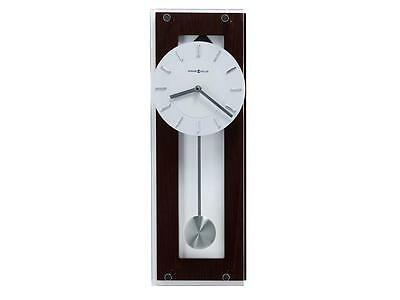 """New Modern Contemporary Wood Clear Glass Pendulum White Face Wall Clock 19"""""""
