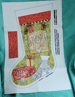 Dimensions Punch Needle Joy Christmas Stocking NO instructions, panel only
