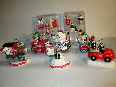 Lot of Coca Cola Christmas Ornaments  6 + 10 mini  X-mas ornaments