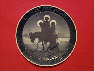 Rare 1943 Royal Copenhagen Christmas Plate in German