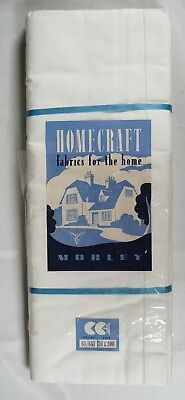New & Unused CC41 Cotton Single Bed Sheet from Morley Homecraft