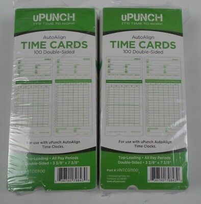 NEW  200 uPunch Time Cards for HN3000 200 Upunch Time Cards