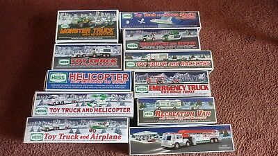 11 HESS Toy Trucks Lot, new and pre owned