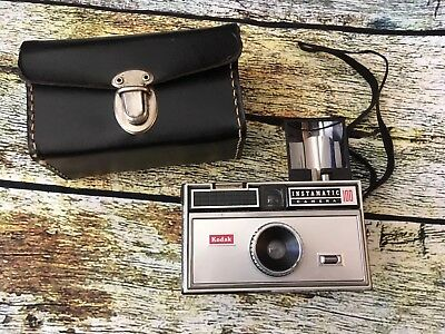 Vintage Kodak Instamatic 100 Film Camera W/ Case Classic Photography