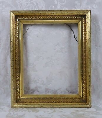 Antique 19th Century Eastlake Victorian Gesso Gold Painted Frame Fits 12x9.5