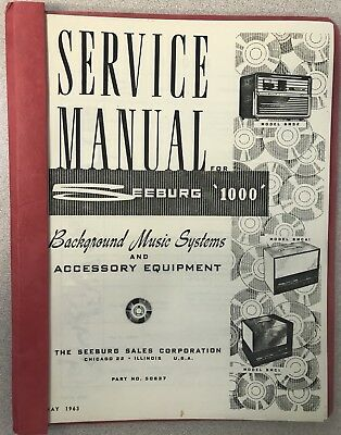 Seeburg '1000' Background Music Systems Service Manual Record Player
