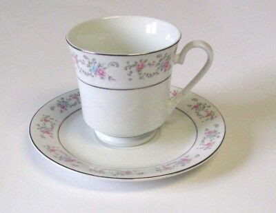 """Vintage Dynasty Fine China """"RAPTURE"""" Footed Cup And Saucer -"""