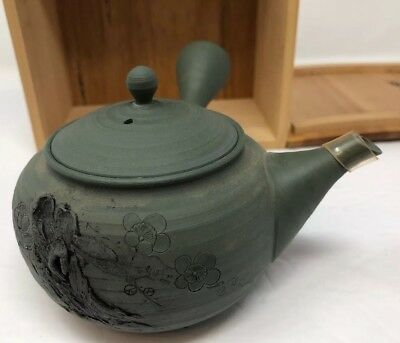 Japanese BANKO YAKI Clay Tea Pot  in Box/Made in Japan