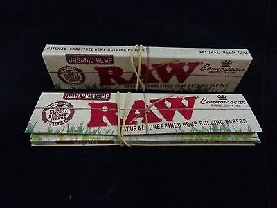 Raw Connoisseur Organic Hemp Rolling Papers/ King Size (2 Packs) *Free Shipping*