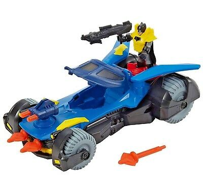 Imaginext DHT64 Batmobile Batman Car with Dart Launcher Shields Rotating Cannons