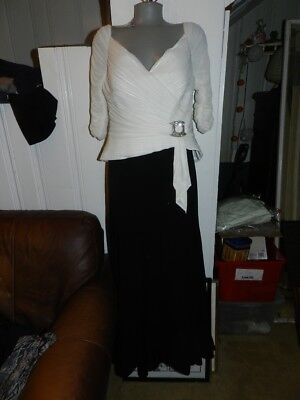 Daymor Couture Formal Evening Party Wedding Gown Sz 12 Black/white