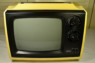 Vintage 1978 Sears Model 564.50040511 Portable Solid State CRT TV Retro Working