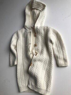 Janie and Jack Hooded Sweater Girls 2T Off White Lambswool