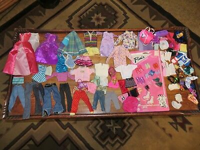 Barbie Doll Size Clothes Lot 30+ ~Some Happy Family~Skirts~Pants~Tops~Shoes