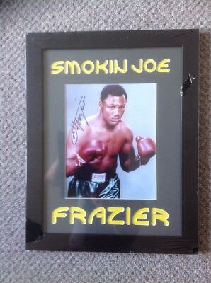 Smokin Joe Feazier Authentic Signed Photo In Frame In Mint Condition Unique Rare