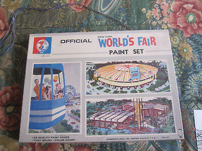 Vintage 1964 New York World's Fair Childrens Paint Set Hassenfeld