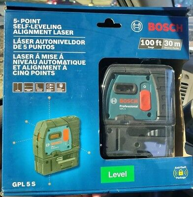 Bosch 5 Point Self-Leveling Alignment Laser (Model GPL5 S) *New*