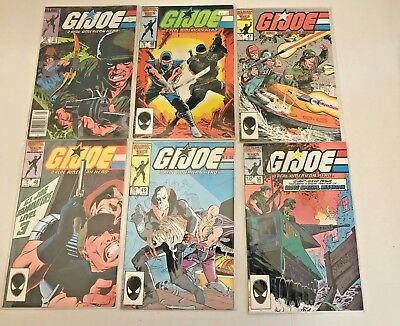 Marvel Comic Book Lot G.I. Joe. #'s 45-50 sealed excellent condition.