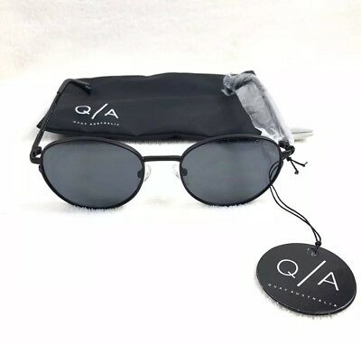 5f621b3fc47 QUAY AUSTRALIA CRAZY Love Womens Sunglasses Black Frame Smoke Lens ...