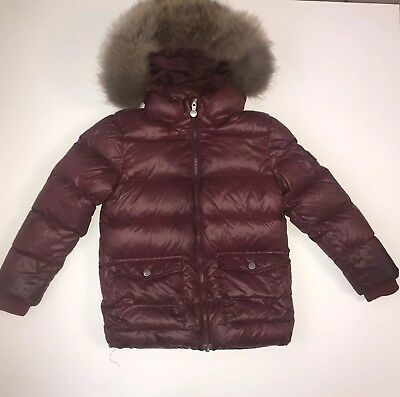 pyrenex Girls Coat With Fur Hood Age 6