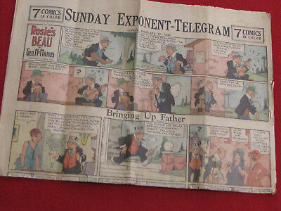 Sunday Newspaper Color Comic Strip, Clarksburg WV Exponent, Feb. 15, 1931