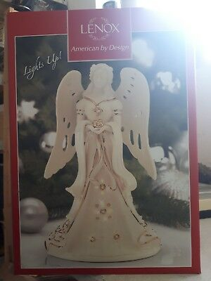 Lenox American by Design Limited Edition Florentine and pearl Angel Lit Figurine