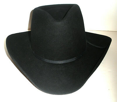 Stetson Pony Express Black Pure Wool Cowboy Hat